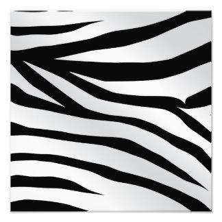 Motif à la mode moderne de rayures de zèbre photos d'art