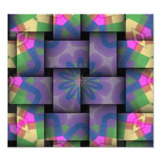 Motif abstrait coloré d'armure photographies d'art