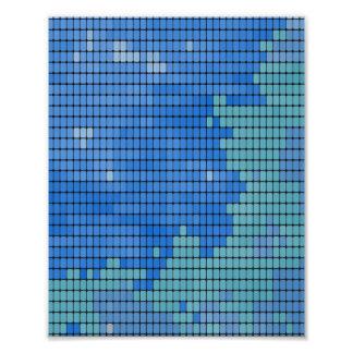 Motif abstrait de carré de bleu photos d'art