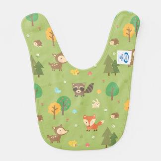 Motif animal de région boisée mignonne de forêt bavoirs pour bébé