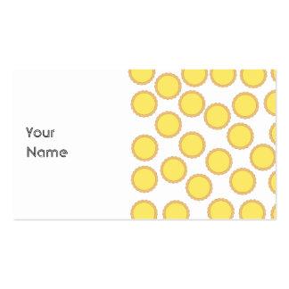 Motif au goût âpre de citron. Jaune ensoleillé Cartes De Visite Professionnelles