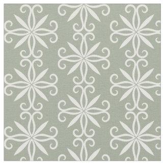 Motif blanc de vert sauge tissu