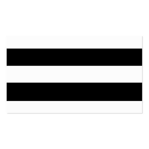 Motif blanc noir moderne de rayures cartes de visite personnelles