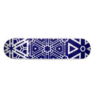 Motif bleu contemporain planches à roulettes customisées
