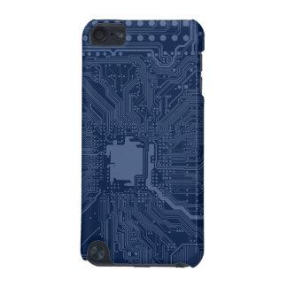 Motif bleu de circuit de carte mère de geek coque iPod touch 5G