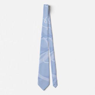 Motif bleu de coeur cravate