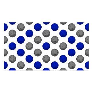 Motif bleu et gris de basket-ball carte de visite