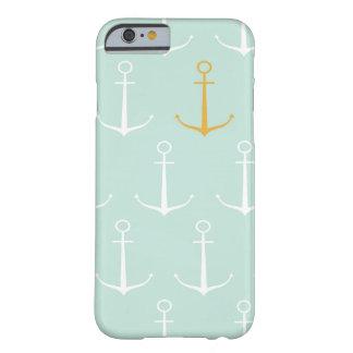 Motif bleu girly de très bon goût d ancre d ancres coque iPhone 6 slim