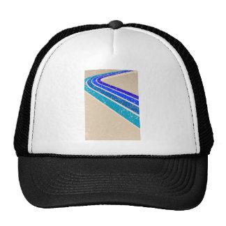 Motif bleu vintage de voie casquette