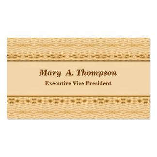 Motif bronzage de diamant de Brown Carte De Visite Standard