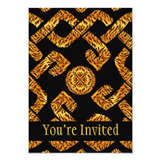 Motif celtique de tigre d'armure carton d'invitation  12,7 cm x 17,78 cm
