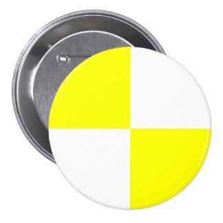 Motif Checkered jaune Macaron Rond 7,6 Cm
