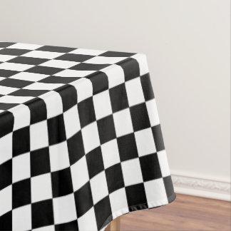 Motif Checkered noir et blanc de damier Nappe