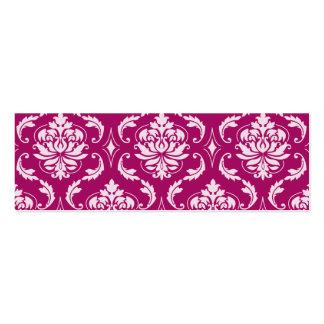 Motif classique blanc Rouge-Violet de damassé Carte De Visite
