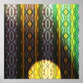 Motif coloré abstrait posters