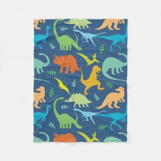 Motif coloré de dinosaure couverture polaire