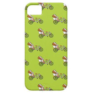 Motif coloré d'illustration de vélo de pousse-pous coques iPhone 5