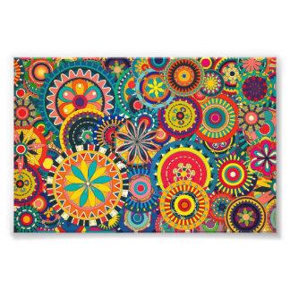 Motif coloré floral de belle texture photo d'art
