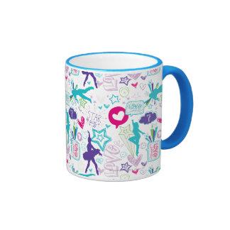 Motif d'académie de danse tasse à café