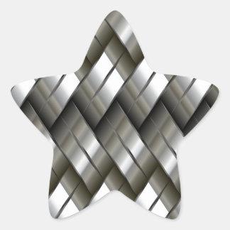 Motif d'argent en métal autocollants en étoile