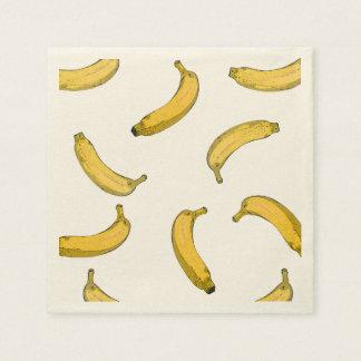 motif de banane serviette jetable