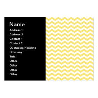 Motif de Chevron dans jaune citron et blanc Cartes De Visite Personnelles