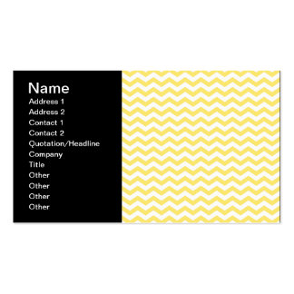 Motif de Chevron dans jaune citron et blanc Modèle De Carte De Visite