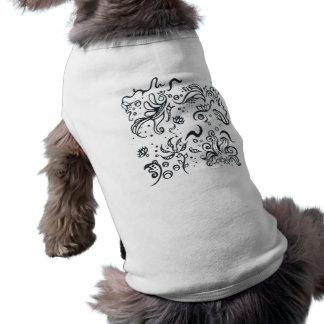 Motif de conceptions de tribal t-shirts pour toutous