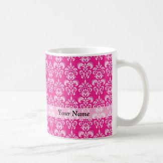 Motif de damassé de roses indien mug blanc