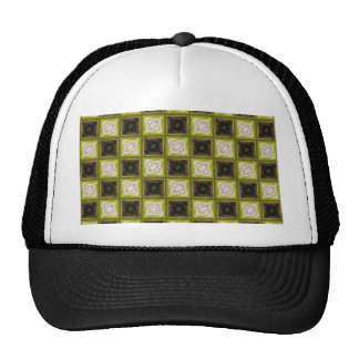 Motif de damier casquette de camionneur