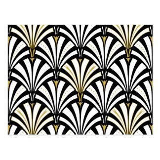 Motif de fan d art déco - noir et blanc