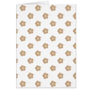 Motif de fleur de sable 3 cartes de vœux
