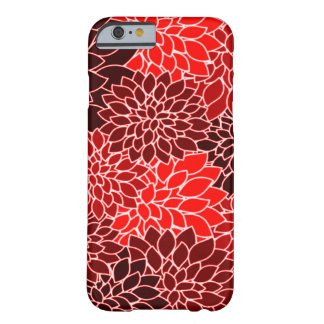 Motif de fleur rouge de dahlia d'expressions coque iPhone 6 barely there