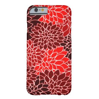 Motif de fleur rouge de dahlia d'expressions coque iPhone 6 barely there