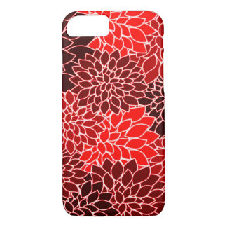 Motif de fleur rouge de dahlia d'expressions coque iPhone 7
