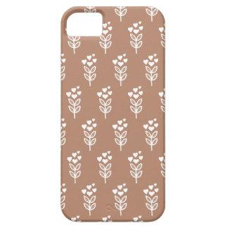 Motif de fleur vintage de pavot de coeur d'amour étuis iPhone 5