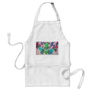 Motif de fleurs coloré tablier