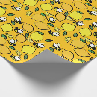 Motif de limonade de ruche papier cadeau noël