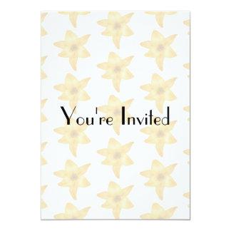 Motif de lis tigré aux couleurs pastel carton d'invitation  12,7 cm x 17,78 cm