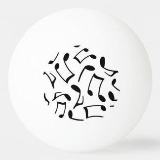 Motif de notes de musique blanc et noir balle tennis de table