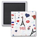 Motif de Paris avec Tour Eiffel Aimant