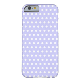 Motif de point lilas et blanc de polka. Tacheté Coque Barely There iPhone 6