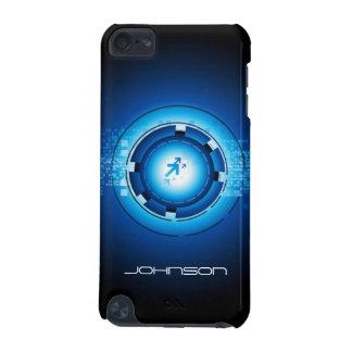 Motif de pointe bleu abstrait géométrique coque iPod touch 5G