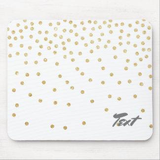 motif de points clair élégant de confettis de tapis de souris