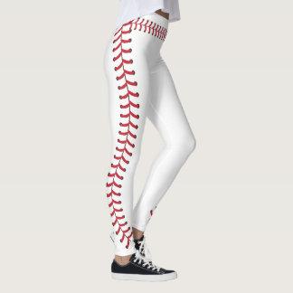 Motif de points de couture de boule de base-ball leggings