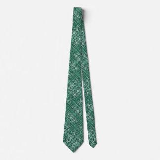 Motif de scrollwork de vert sauge cravate