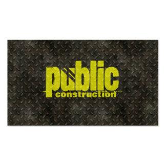Motif de soudeuse de construction en métal carte de visite standard