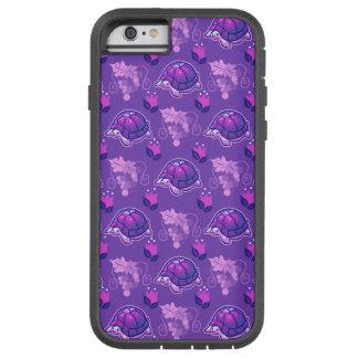 Motif de tortue de fleurs et de raisins coque iPhone 6 tough xtreme
