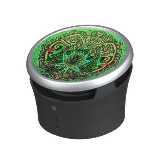 Motif de tortue verte haut-parleur