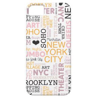 Motif de typographie des textes de New York City Étuis iPhone 5